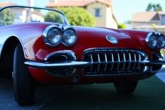 Red-Corvette-C1-front-headlights