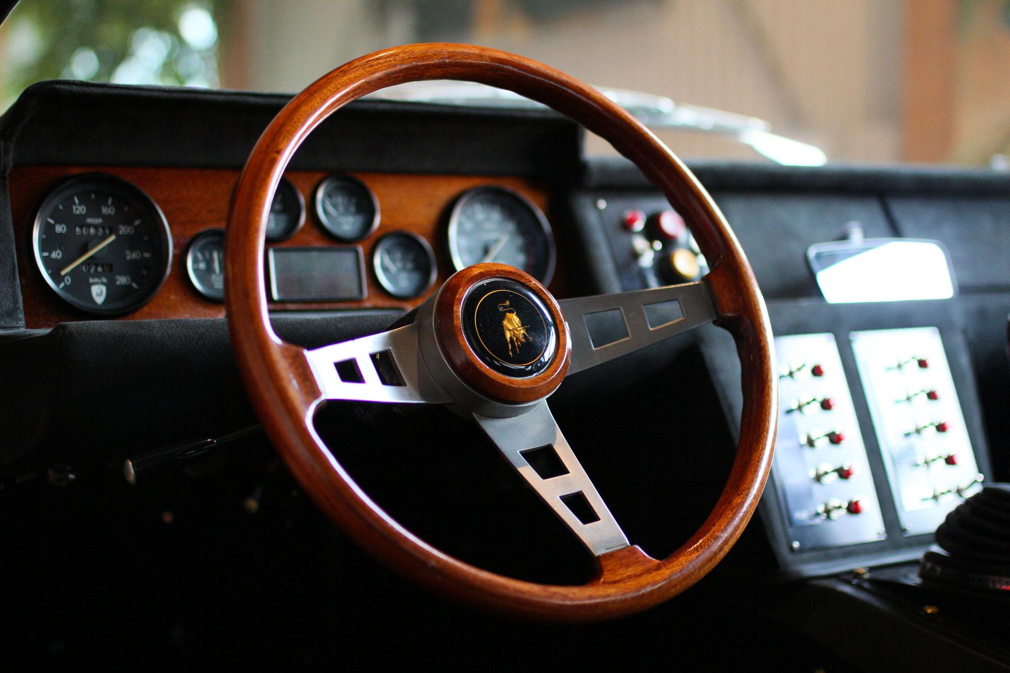 Lamborghini Jaramara Wooden Steering Wheel
