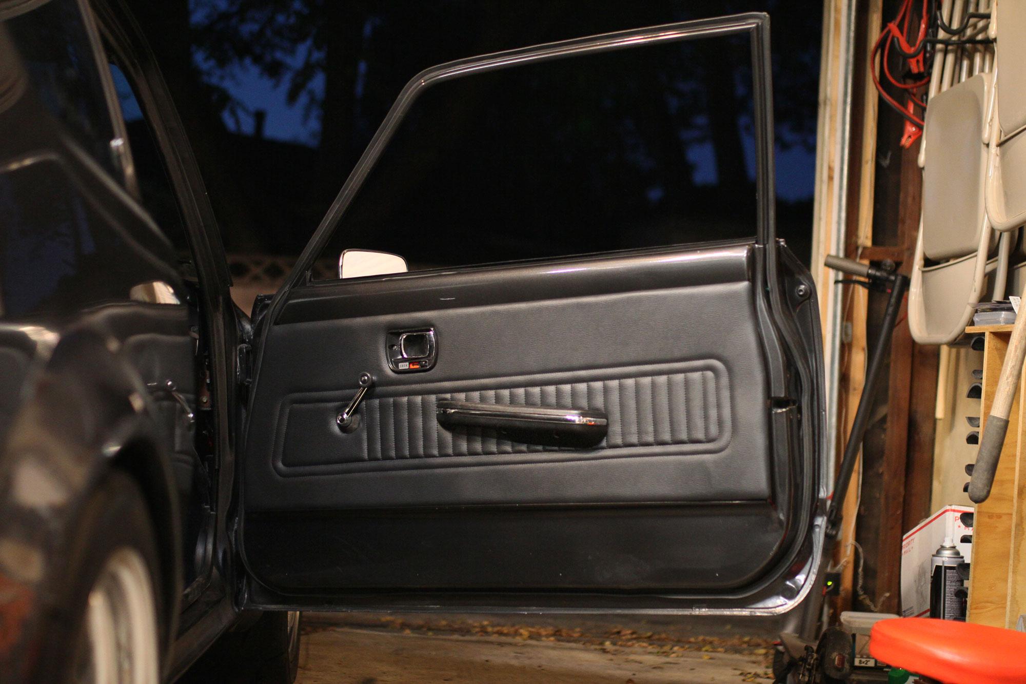 Honda Civic with black interior original.
