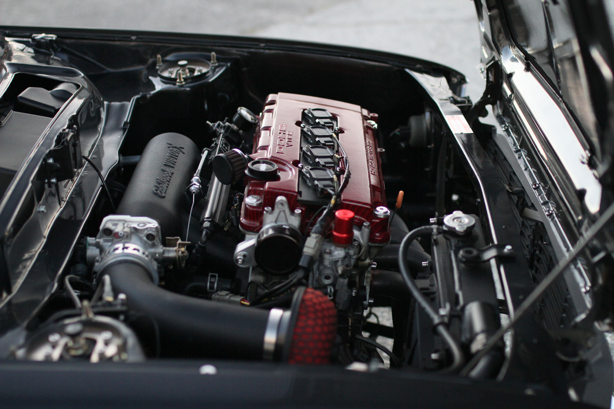 Motorn som sitter i Civicen som kommer från en Integra 1998