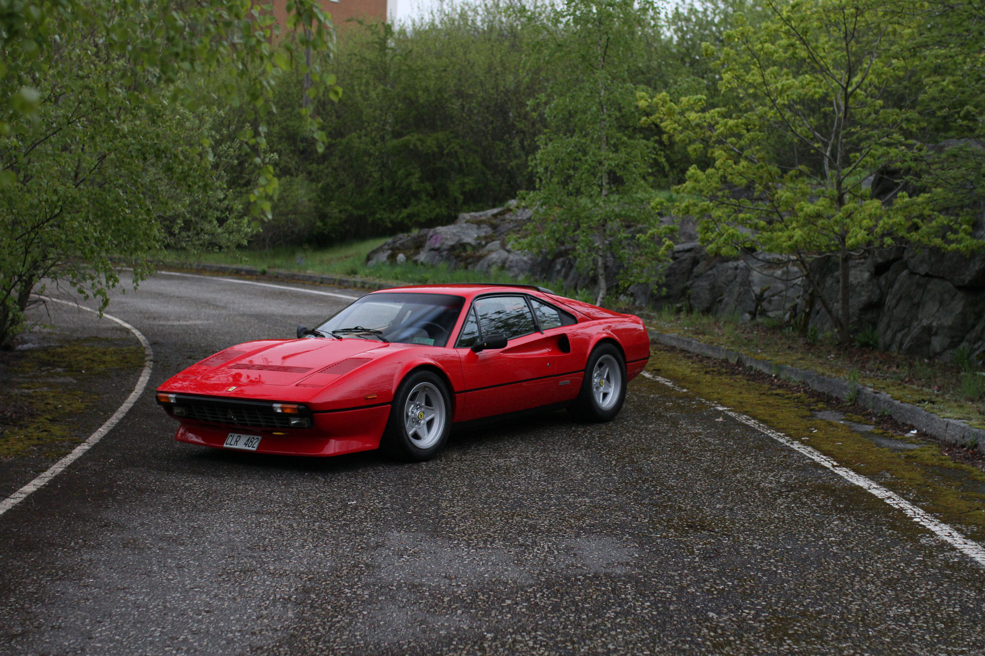 Ferrari 308 GTB QV 1984 on the abandon Highway exit