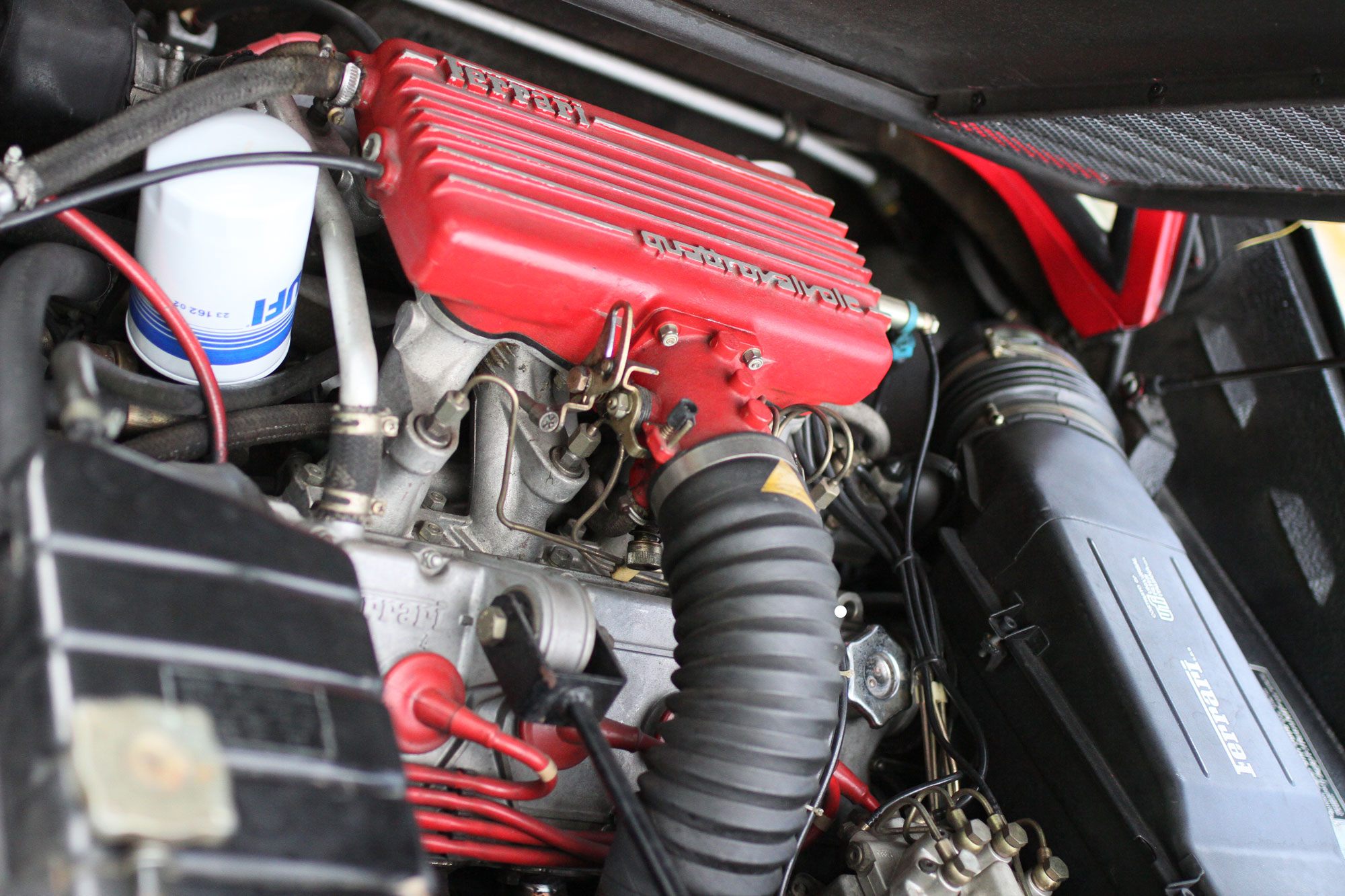 A 90-degree V8 in the Ferrari 308