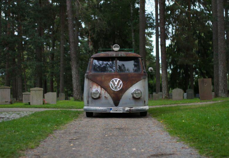 Front of Patina kleinbus 1957