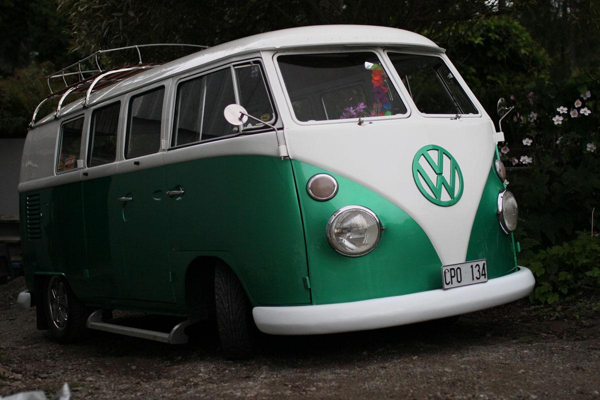 Porsche Green Split bus 1965