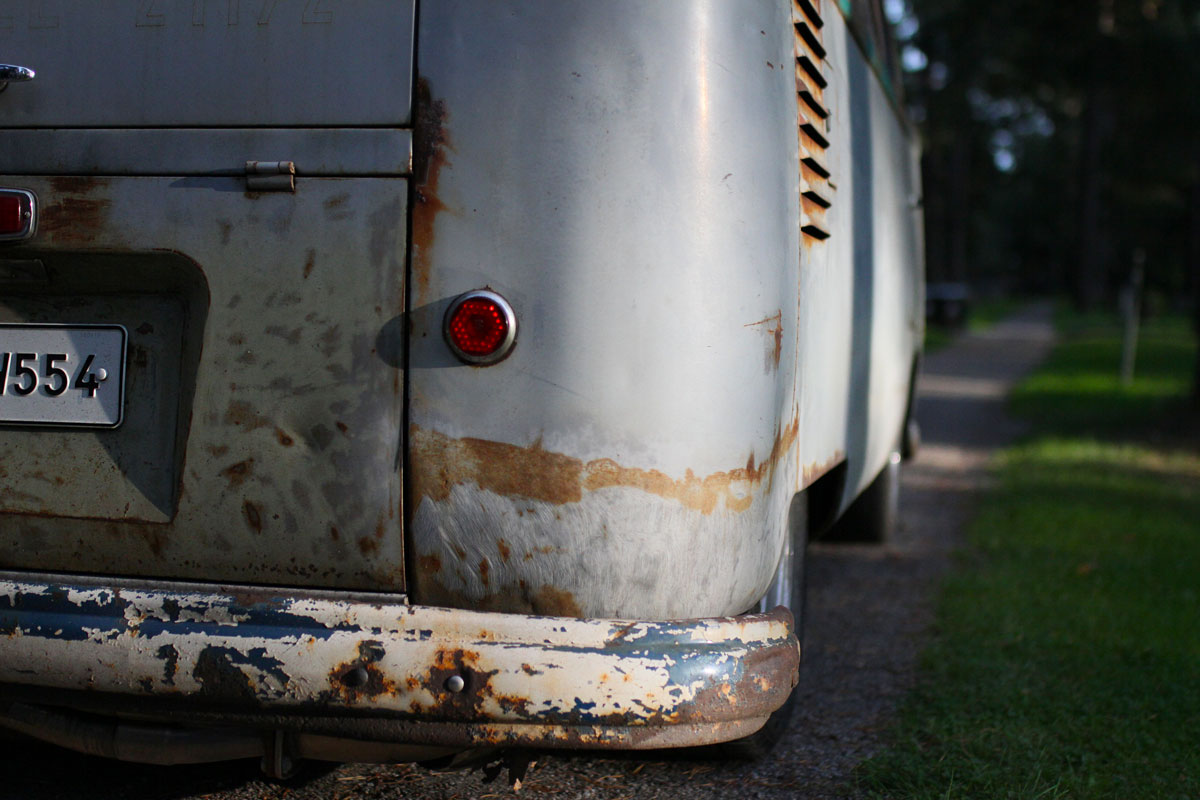 Tail lights from the a 1957 vw bus