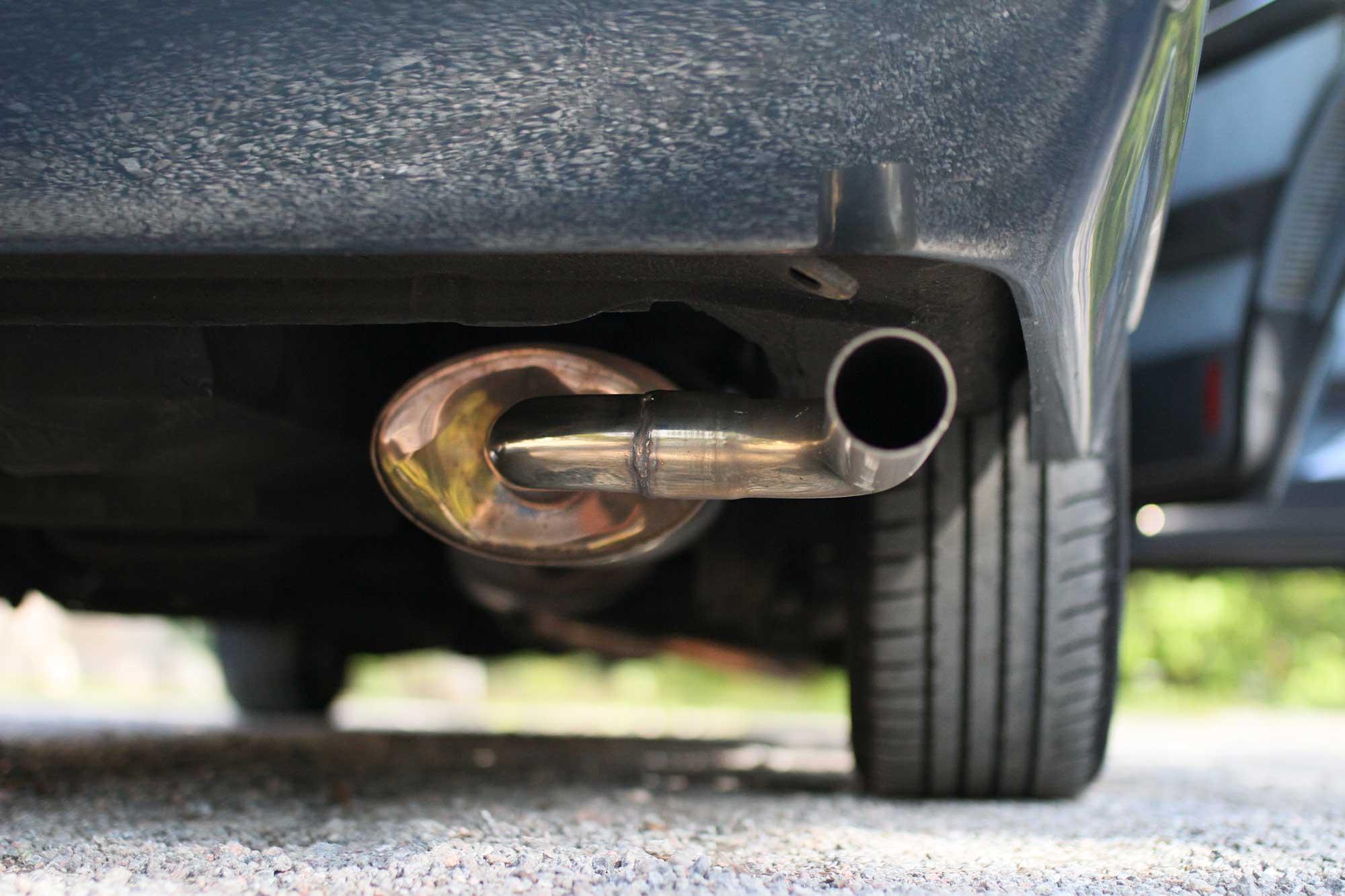 exhaust of Fiat Argenta