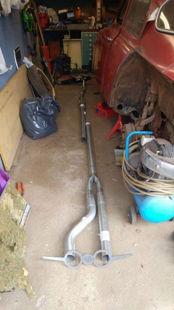 exhaust pipe making for saab 96