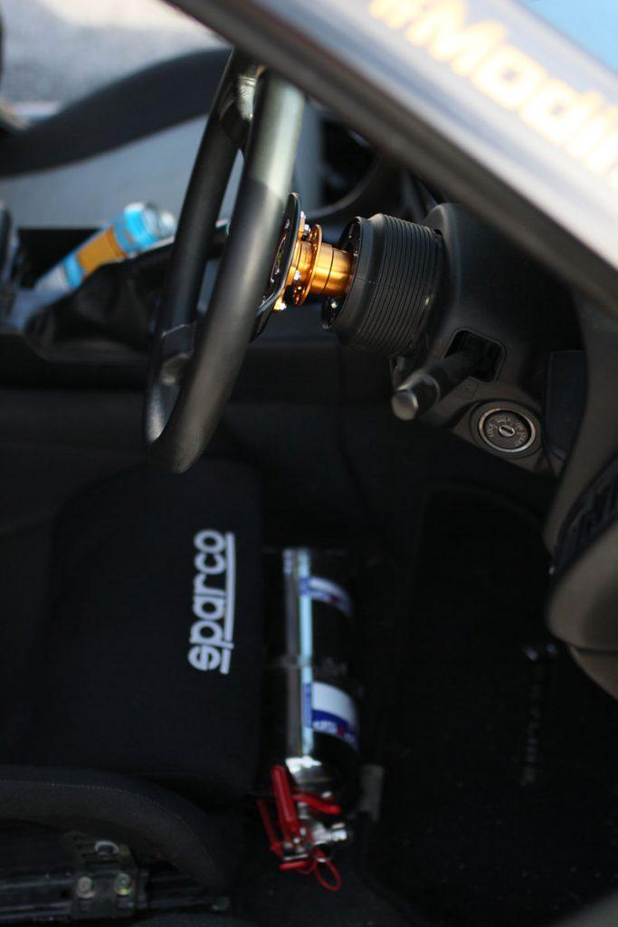 Sparco Chair inside a Nissan Skyline R34
