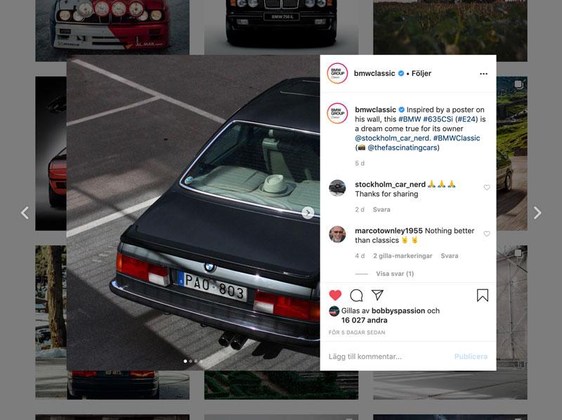 BMw 635 csi - BMW classic
