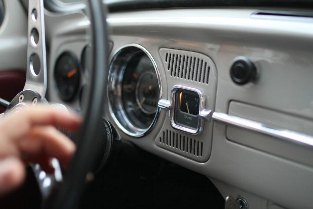 Steering wheel in Mickes Bubbla 1967