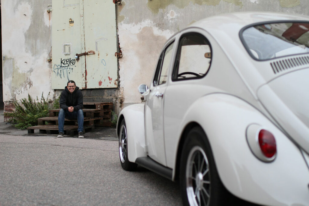 micke and his Cal Look Beetle 1967