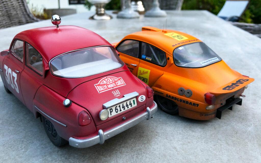 Saab-96-Monte-Carlo-Rally-behind-LeMans-orange